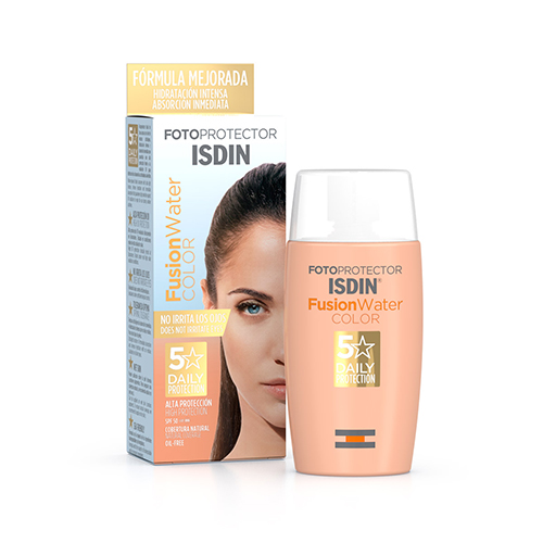 Fotoprotector ISDIN Fusion Water Color SPF50 50ml/ Protector Solar Ultralleuger Amb Color